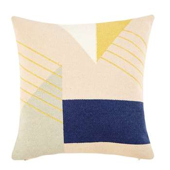 TERRAZZO Cotton Cushion with Graphic Motifs (45 x 45cm)