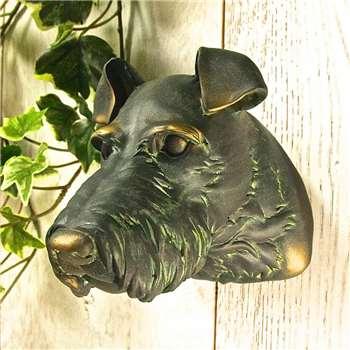 Terrier Wall Art (14 x 14cm)