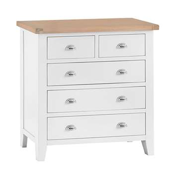 Tetbury Painted Oak 2 Over 3 Chest (H95 x W90 x D42cm)