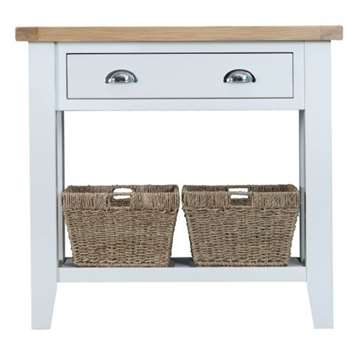 Tetbury Painted Oak Console Table (H80 x W86 x D35cm)