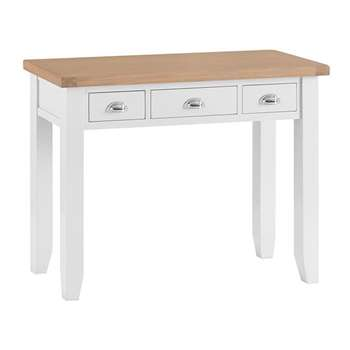 Tetbury Painted Oak Dressing Table (H85 x W110 x D42cm)