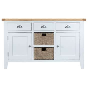 Tetbury Painted Oak Large Sideboard (H85 x W140 x D40cm)