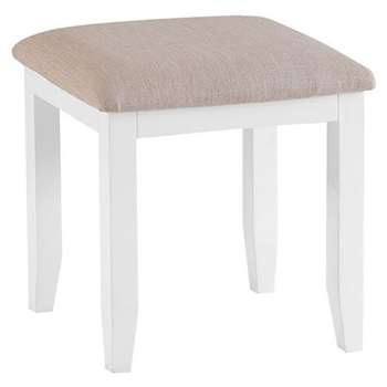 Tetbury Painted Oak Stool (H48 x W45 x D40cm)