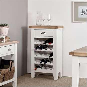 Tetbury Painted Oak Wine Cabinet (H96 x W60 x D30cm)