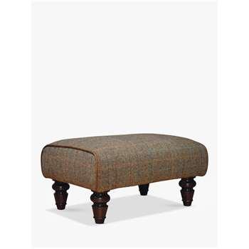 Tetrad Lewis Footstool, Harris Tweed Bracken Herringbone (H35 x W69 x D50cm)
