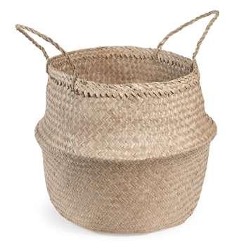 Thai Plant Fibre Basket (H47 x W40 x D40cm)
