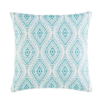 THAIS Outdoor Cushion with Green Graphic Motifs (45 x 45cm)