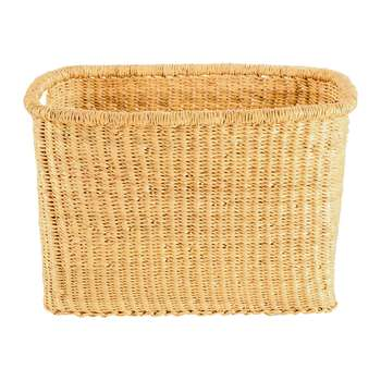 The Basket Room - Frafra Rectangle Hand Woven Storage Basket - L (H26 x W38 x D26cm)