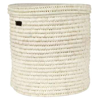 The Basket Room - Pale Hand Woven Laundry/Storage Basket - Natural - L (H50 x W50cm)