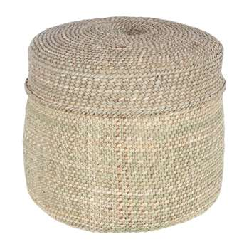The Basket Room - Pango Lidded Hand Woven Basket - Natural - XS (H14 x W14 x D14cm)