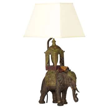 The Ceremonial Elephant Lamp - Multi (32 x 24cm)