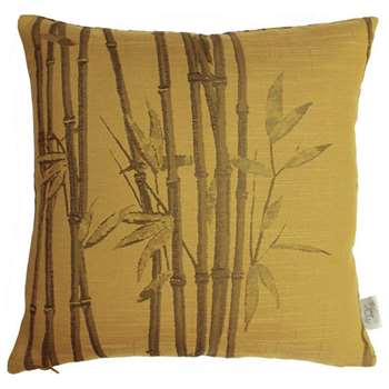 The Chateau By Angel Strawbridge Bamboo Cushion - Ochre (H43 x W43cm)