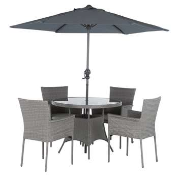 The Collection - Havana Rattan Effect - 4 Seater Set