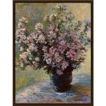 The Courtauld Gallery, Claude Monet - Vase of flowers 1881-2 Print, Dark Canvas Rim 50 x 60cm