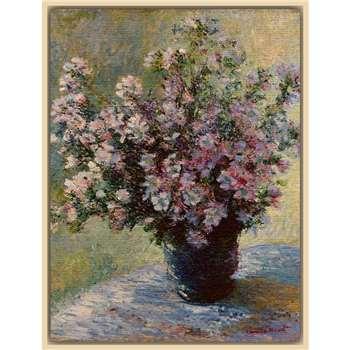 The Courtauld Gallery, Claude Monet - Vase of flowers 1881-2 Print, Light Canvas Rim 50 x 40cm