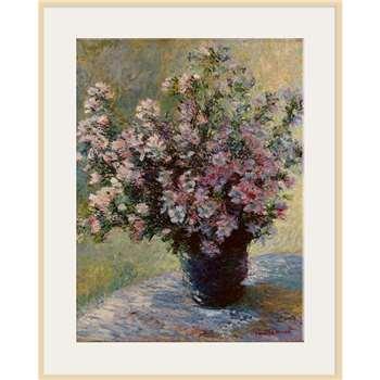The Courtauld Gallery, Claude Monet - Vase of flowers 1881-2 Print, Light Frame 80 x 60cm