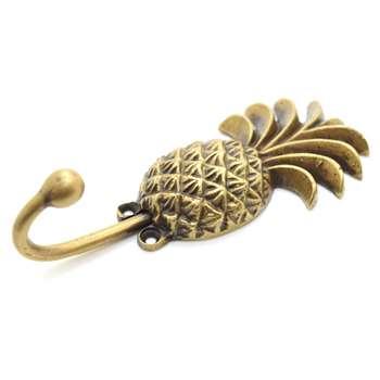 The Foundryman - Pineapple Brass Coat Hook (H14 x W5.9cm)
