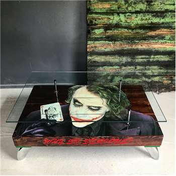 Cappa E Spada - The Joker Playing Card Coffee Table with Glass Top (H38 x W114 x D76cm)