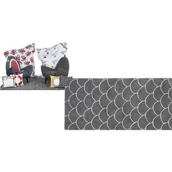 The Rodnik Band Wool Rug, Grey (160 x 230cm)