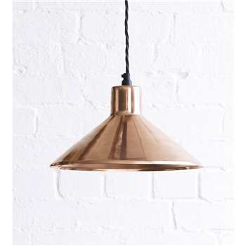 The Thea Pendant Light In Copper (20 x 30cm)