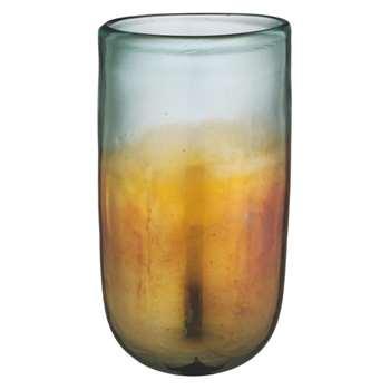 Thea Metallic iridescent glass vase