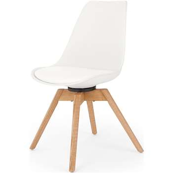 Thelma Office Chair, White (H84 x W49 x D54cm)
