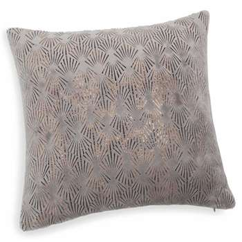 THEOTIME soft grey cushion (40 x 40cm)