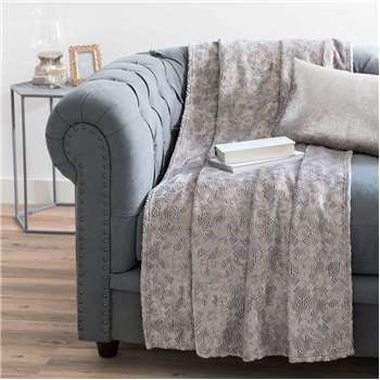THEOTIME soft grey throw (150 x 230cm)