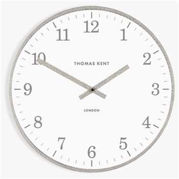 Thomas Kent Aaron Wall Clock, Grey (H40 x W40 x D6cm)