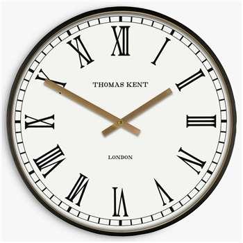 Thomas Kent Aidan Wall Clock, Black (H40 x W40 x D6cm)