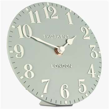 Thomas Kent Arabic Mantel Clock, Sorrel (H15 x W15 x D5cm)