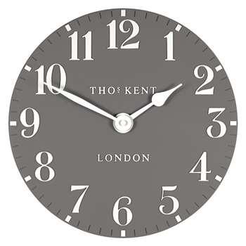 Thomas Kent Arabic Wall Clock, Grey (H30 x W30 x D3.5cm)