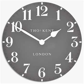 Thomas Kent Arabic Wall Clock, Grey (H51 x W51 x D4.4cm)