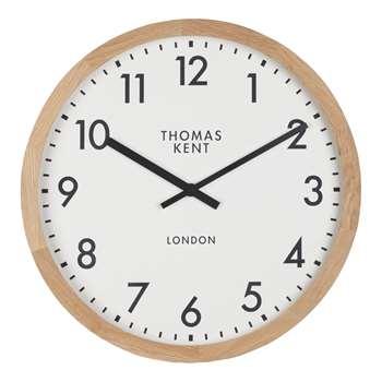 Thomas Kent Clifton Oak Edged Clock (H46 x W46 x D6cm)