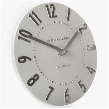 Thomas Kent Mulberry Mantel Clock, Silver (H15 x W15 x D5cm)