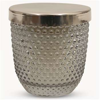 Thornton Linen Fragrance Glass Candle with Metal Lid (7.7 x 7.3cm)