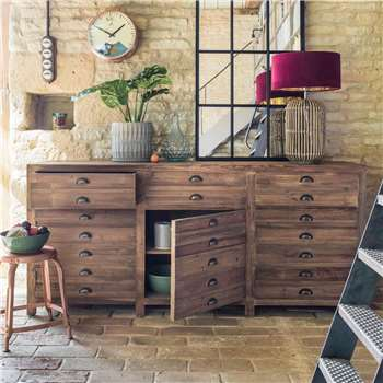 Larkin Three Door Pine Sideboard (H90.5 x W200.5 x D50.5cm)