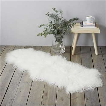 Tibetan Sheepskin Rug, White