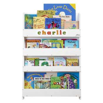Tidy Books Personalised Bookcase, White (115 x 77cm)