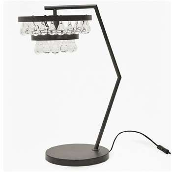 Tiered Droplet Table Lamp - Brown (H60 x W40 x D40cm)
