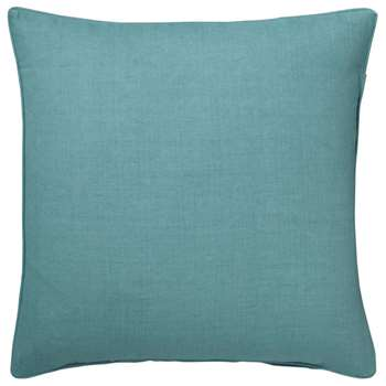 Tight Weave Linen Cushion Cover, Large - Antibes Turquoise (51 x 51cm)