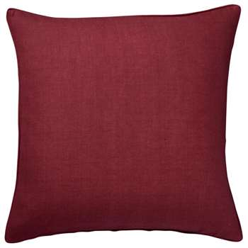 Tight Weave Linen Cushion Cover, Large - Blood Orange (51 x 51cm)
