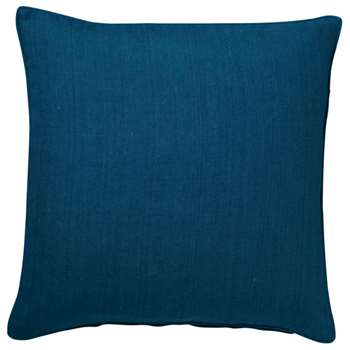 Tight Weave Linen Cushion Cover, Large - Deep Blue (51 x 51cm)