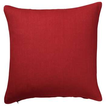 Tight Weave Linen Cushion Cover, Large - Maple Red (51 x 51cm)