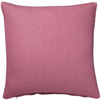 Tight Weave Linen Cushion Cover, Large - Washed Rose (51 x 51cm)