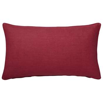 Tight Weave Linen Cushion Cover, Small - Raspberry (35 x 60cm)
