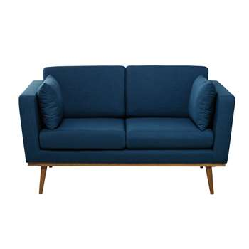 TIMEO 2 seater fabric sofa in petrol blue