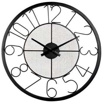 TINDY - Black Clock (Diameter 60cm)