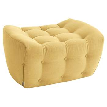 Tisno yellow wool mix footstool (40 x 78cm)