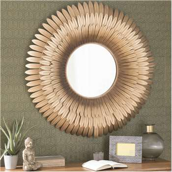 TIVOLI golden metal mirror D 103cm